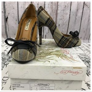 Ed Hardy Wool Flannel Plaid Batu Heel